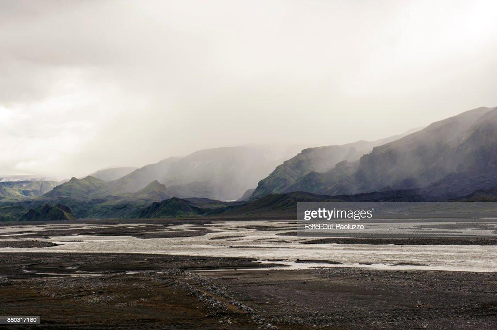 Lagarfljót, East Iceland : Stock Photo