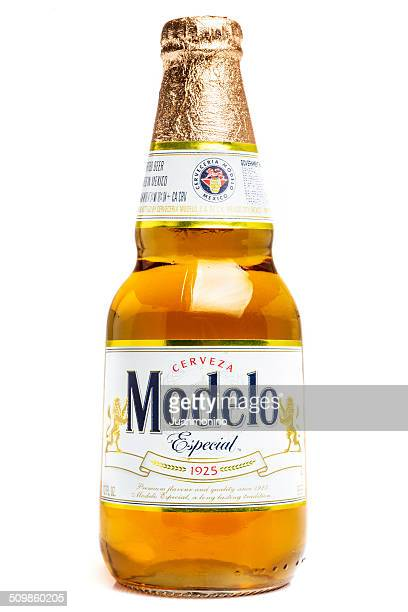 modelo especial lager beer - mexican beer stock pictures, royalty-free photos & images