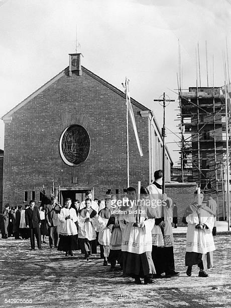 Lager Friedland katholischer Gottesdienst für Russlandheimkehrer 1955