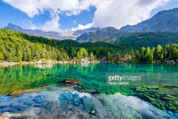 lagh da saoseo, val di campo - schweiz - september stock-fotos und bilder