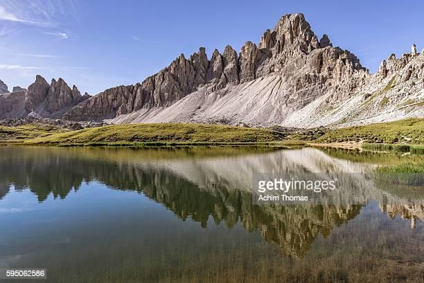 laghi dei piani (boedenseen) - sesto dolomites, south tyrol, italy (europe) - achim thomae stock-fotos und bilder