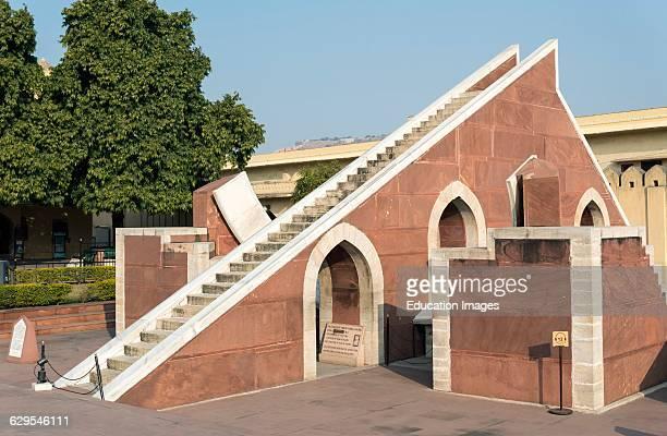 Laghu Samrat Yantra Instrument at Jantar Mantar Observatory Jaipur Rajasthan India
