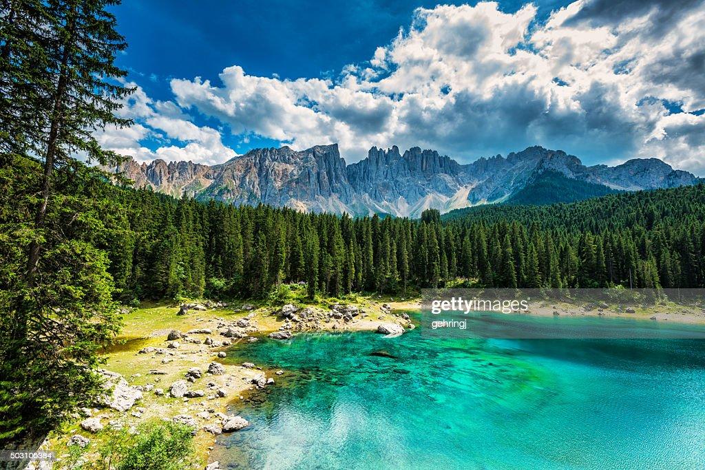 Lago di carezza karersee trentinoalto adige italy stock for Mobilificio trentino alto adige