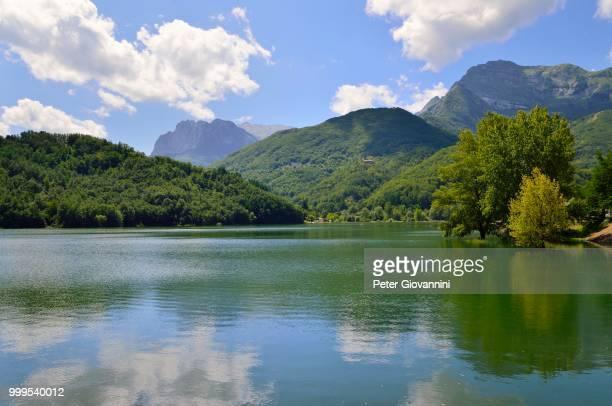 Lago di Gramolazzo in the Apuan Alps, Garfagnana, Province of Lucca, Tuscany, Italy