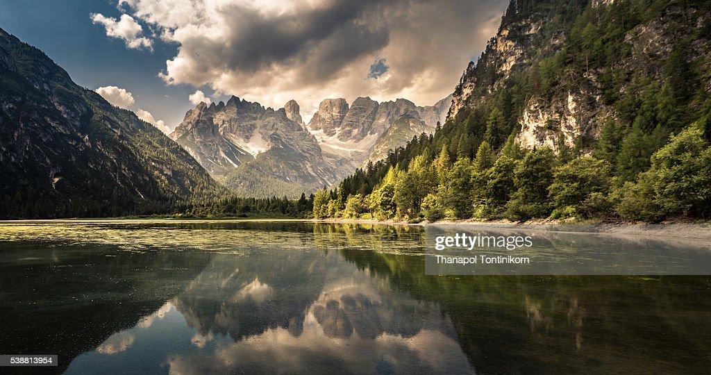 Lago Di Landro Dürrensee , Italy : Stock Photo