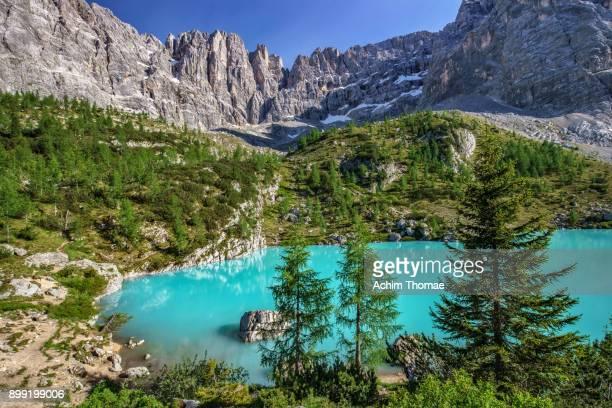 Lago di Sorapis, Dolomite Alps, Italy, Europe