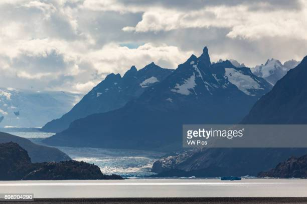 Lago Grey or Grey Lake and the Grey Glacier part of the Southern Patagonia Ice Field Torres del Paine National Park in Patagonia Chile A UNESCO World...