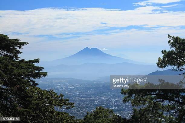 Lago Ilopango from Volcan Boqueron, El Salvador