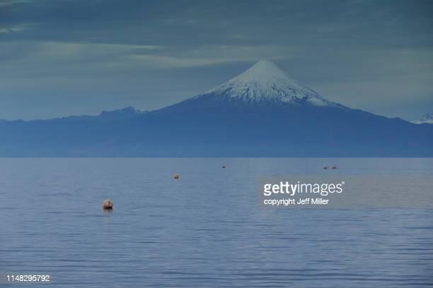 Lago Llanquihue and Volcán Osorno, Frutillar, Chile.
