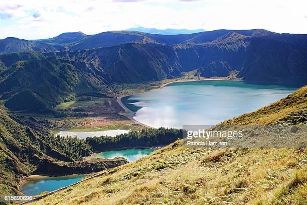 lagoa do fogo, fire lake, azores - azores stock photos and pictures