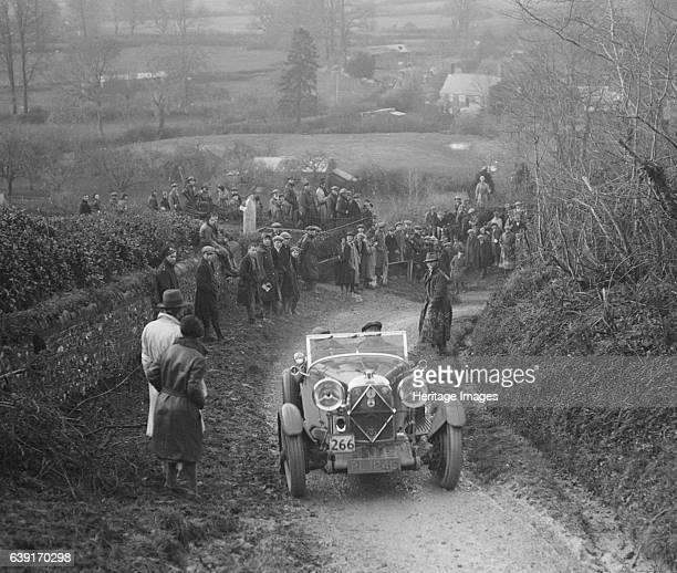 Lagonda 1954 cc. Vehicle Reg. No. PL1245. Event Entry No: 266. Driver: W.M. Couper. Award: Gold. Place: Ibberton Hill, Dorset. Special braking test....