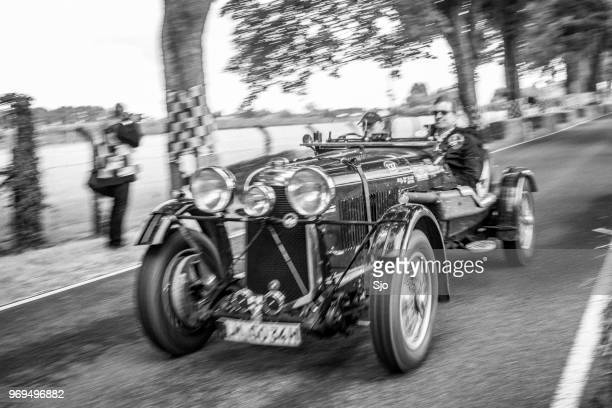 lagonda m45 lemans team car 1934 classic race car - endurance race stock pictures, royalty-free photos & images