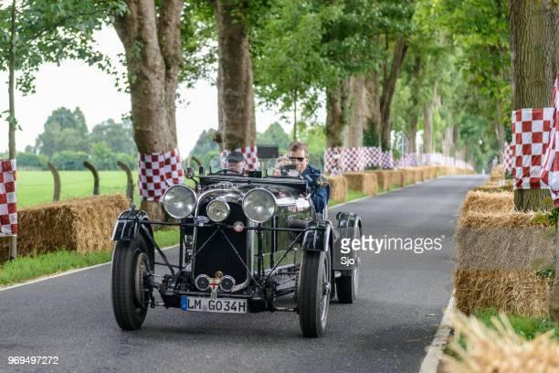 lagonda m45 lemans team car 1934 classic race car - concours stock pictures, royalty-free photos & images
