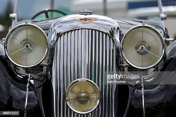 Lagonda Rapide V12 Drophead Coupe displayed at the Salon Prive luxury car event at Blenheim Palace on September 3 2015 in Woodstock England Salon...