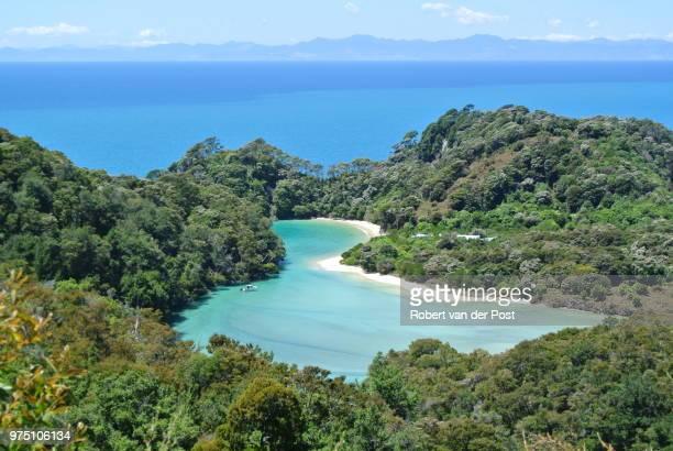 Lagoon in Abel Tasman National Park, Tasman District, New Zealand