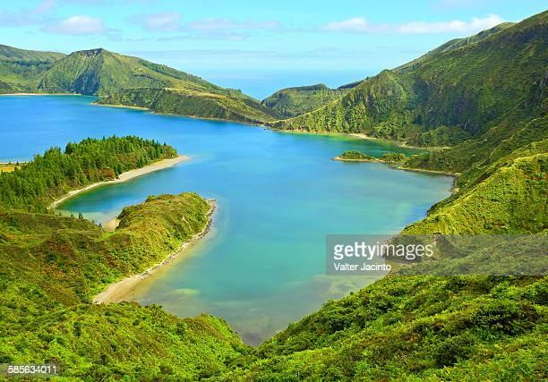 Lagoon in Azores: Lagoa do Fogo