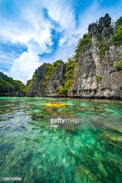 lagoon in el nido, palawan, philippines - el nido stock pictures, royalty-free photos & images