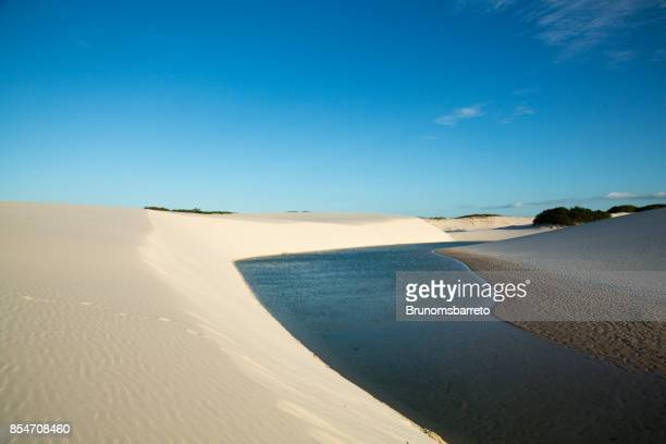 lagoon in the lençois maranhenses - maranhao state stock pictures, royalty-free photos & images