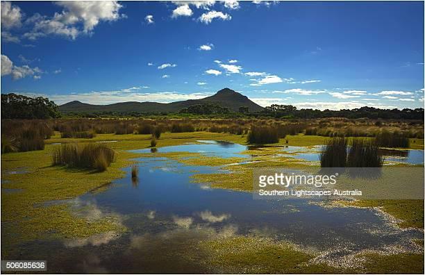 Lagoon in the Patriach range, Flinders Island, part of the Furneaux group, eastern Bass Strait, Tasmania.