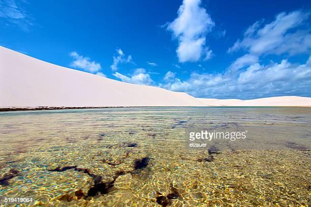 lagoon - barreirinhas stock pictures, royalty-free photos & images