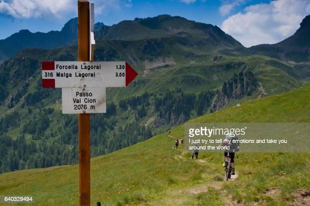 Lagorai Mountain. Trentino Alto Adige. Italy, Passo Val Cion