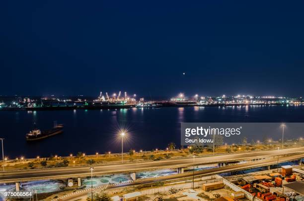 lagos lagoon(again!) - nigeria stock pictures, royalty-free photos & images