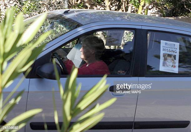 British national Jennifer Murat mother of Robert Murat drives a car out of Casa Liliana 15 May 2007 where she lives with his son Robert Murat and a...
