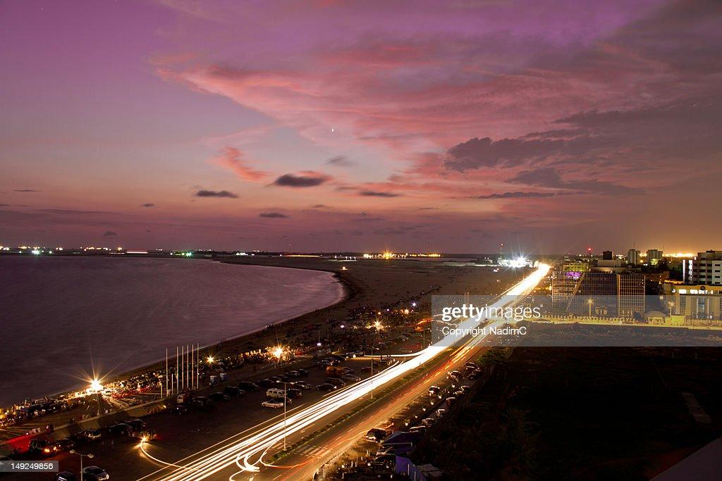 Lagos Sunset (Bar Beach) : Stock Photo