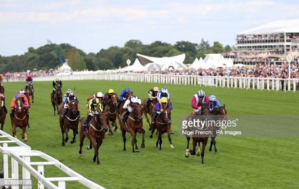 Lagostovegas ridden by Andrea Atzeni wins the Ascot Stakes during day one of Royal Ascot at Ascot Racecourse