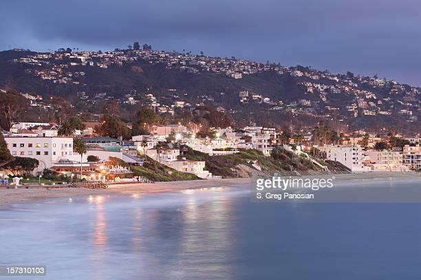 laguna beach at night - laguna beach california stock pictures, royalty-free photos & images