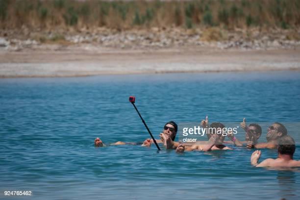 laguna cejar in atacama desert - antofagasta region stock photos and pictures