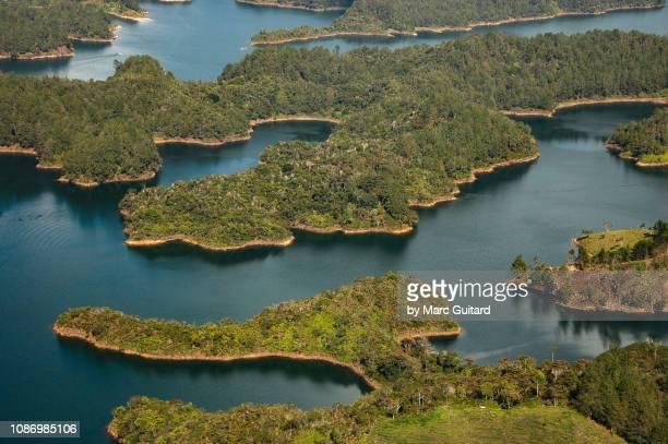 laguna de guatape, colombia - guatapé stock pictures, royalty-free photos & images