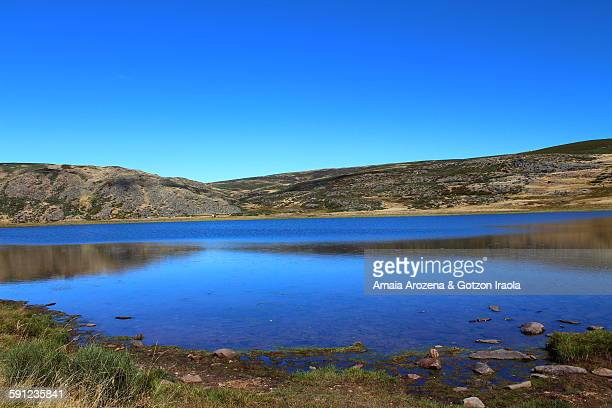 laguna de las yeguas in natural park of sanabria - zamora stock pictures, royalty-free photos & images