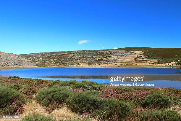 laguna de las yeguas (the lagoon of mares) in sanabria natural park - zamora stock pictures, royalty-free photos & images