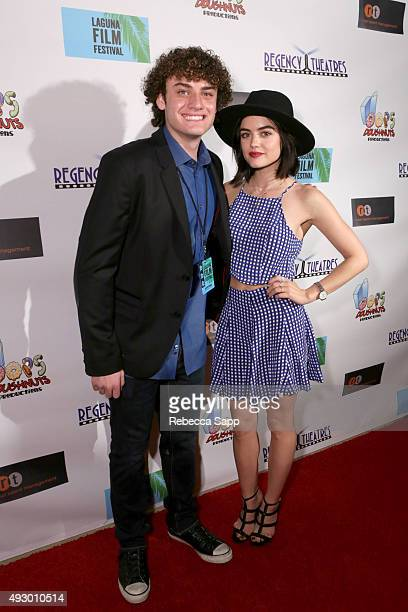 Laguna Film Festival Director Austin Fickman and Lucy Hale at the 1st Annual Laguna Film Festival Day 1 on October 16 2015 in Laguna Niguel California