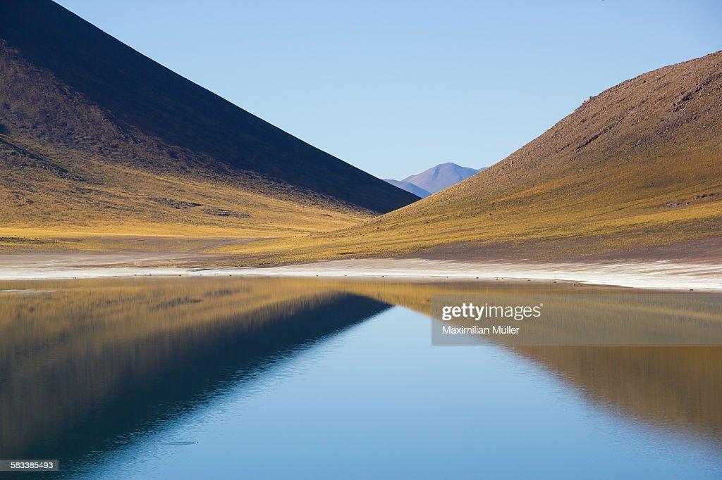 Laguna Miñiques near San Pedro de Atacama, Chile : Stock Photo
