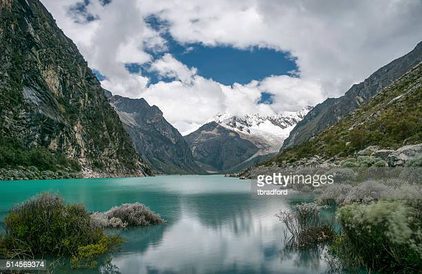 Laguna Paron And Piramide Peak In The Peruvian Andes