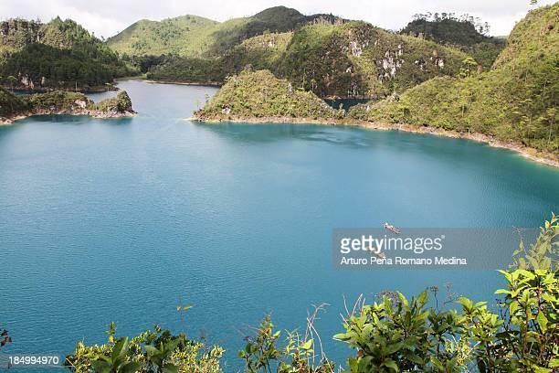 lagunas de montebello - chiapas stock pictures, royalty-free photos & images
