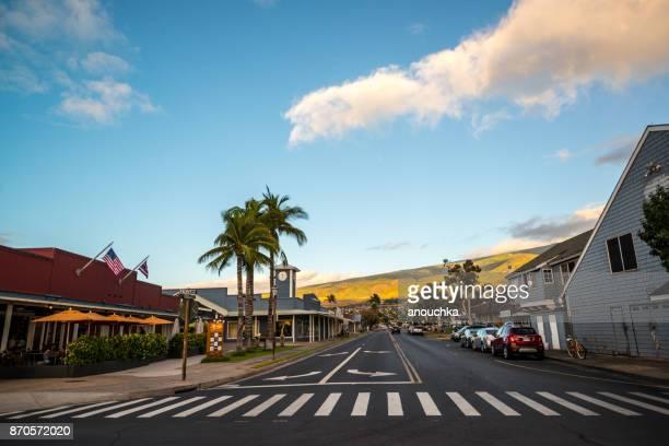 ラハイナのダウンタウン、マウイ島、ハワイ、アメリカ合衆国 - ラハイナ ストックフォトと画像