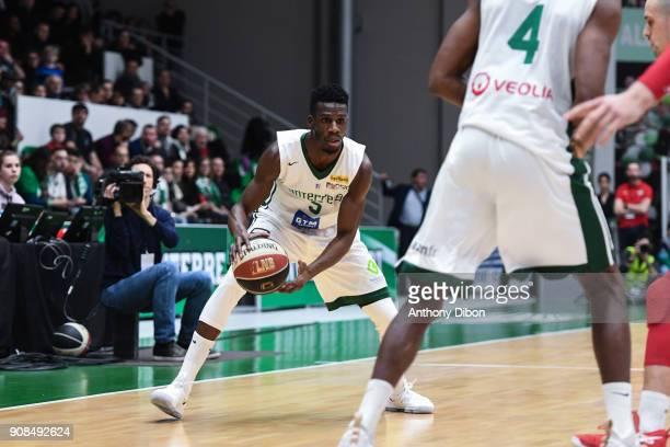 Lahaou Konate of Nanterre during the Pro A match between Nanterre 92 and Monaco on January 21 2018 in Nanterre France