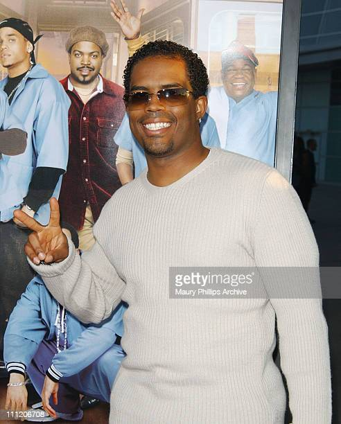 Lahmard J Tate during Barbershop Premiere Los Angeles at Archlight Cinerama Dome in Hollywood California United States