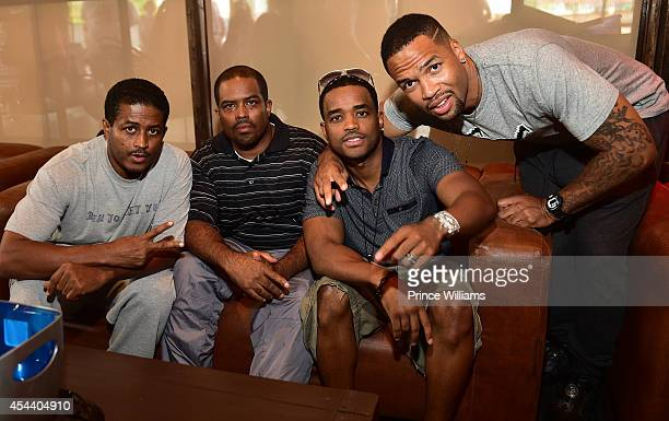 Lahmard Tate Larron Tate and Larenz Tate attend the annual LudaDAY party at Frank Ski Lounge on August 30 2014 in Atlanta City
