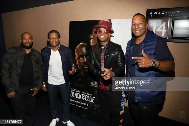 Lahmard Tate Larron Tate Larenz Tate and Deon Taylor attend the Los Angeles Influencer Special Screening of Sony Pictures' BLACK AND BLUE hosted by...