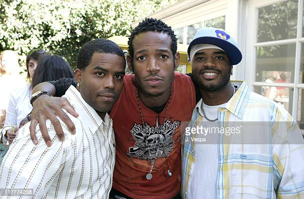 Lahmard Tate Marlon Wayans and Larenz Tate during Corzo Tequila Hosts Serena Williams Birthday Party at Private Residence in Los Angeles California...