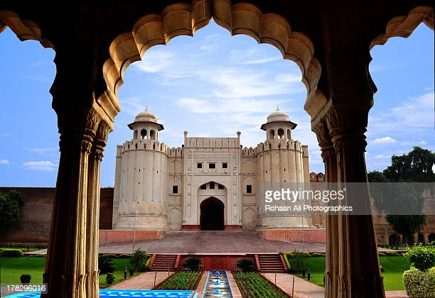 lahore fort in royal frame... - lahore pakistan stock photos and pictures