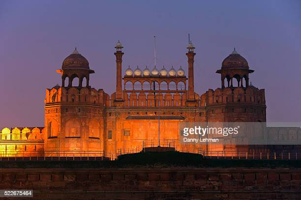 Lahore Gate at the Red Fort, Lal Qila, seat of Mughal power and a symbol of Indian nationhood, Old Delhi, India