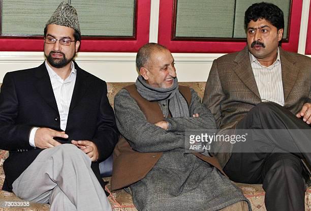 Mirwaiz Umar Farooq Abdul Ghani Bhatt and Bilal Ghani Loan leaders of Indian Kashmir's main separatist alliance The All Parties Hurriyat Conference...