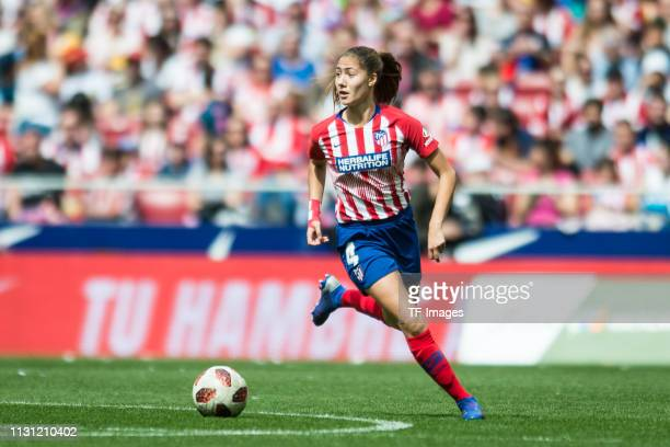 Laia Aleixandri of Atletico de Madrid controls the ball Laia Aleixandri of Atletico de Madrid controls the ball during the Liga Iberdrola match...