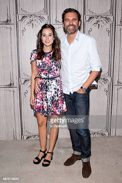 Laia Costa and Sebastian Schipper attend AOL Build Presents Victoria at AOL Studios In New York on October 9 2015 in New York City