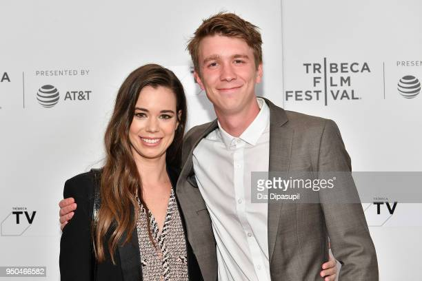 Laia Costa and Thomas Mann attend the screening of Maine during the 2018 Tribeca Film Festival at Cinepolis Chelsea on April 23 2018 in New York City